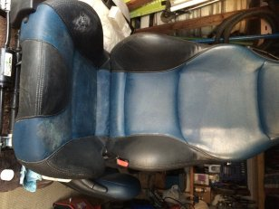 BMW Seats with water damage an