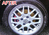Wheel after valeting